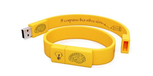 Силиконовые браслеты-флешки