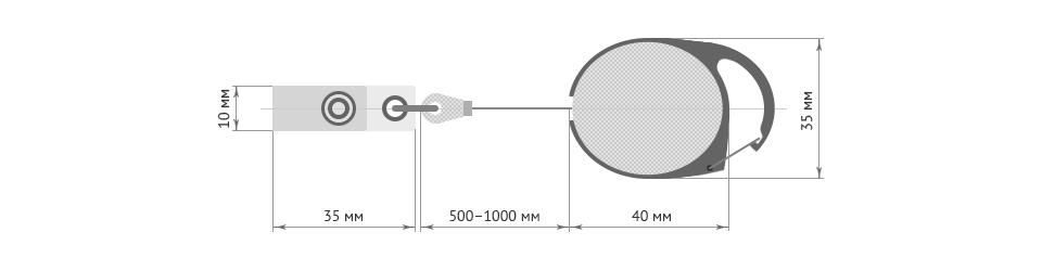 Ретракторы для бейджей с логотипом