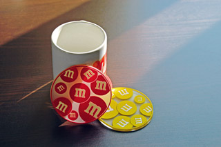 cup and coasters