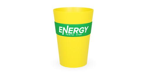Пластиковая кружка с логотипом