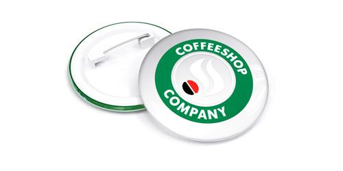 Светоотражающие значки с логотипом компании