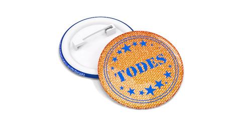 Светоотражающие значки с печатью логотипа