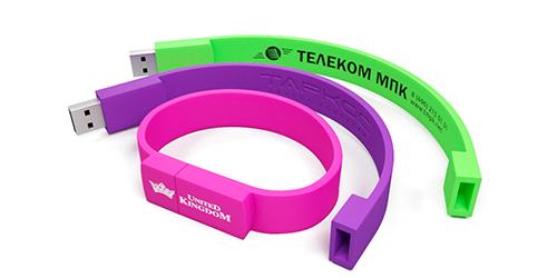 Флешки браслеты с нанесением логотипа